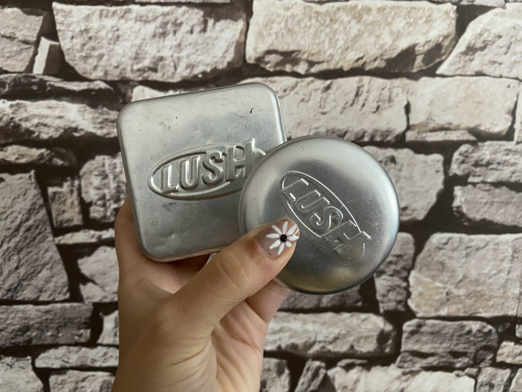 Solid Shampoo and Conditioner from Lush for hand luggage