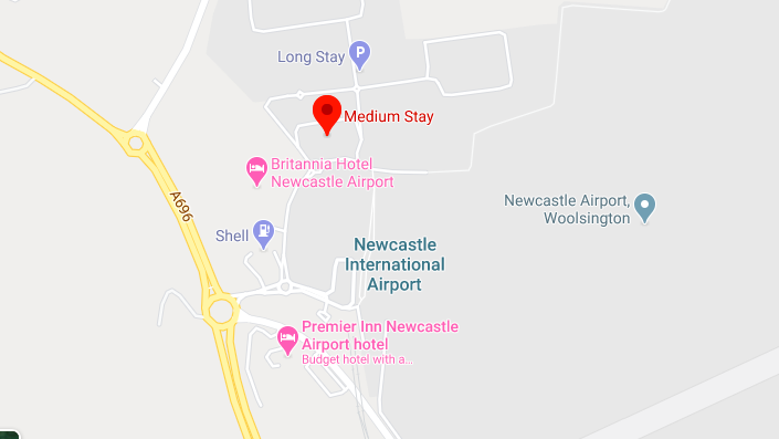 Google Maps - Newcastle Airport