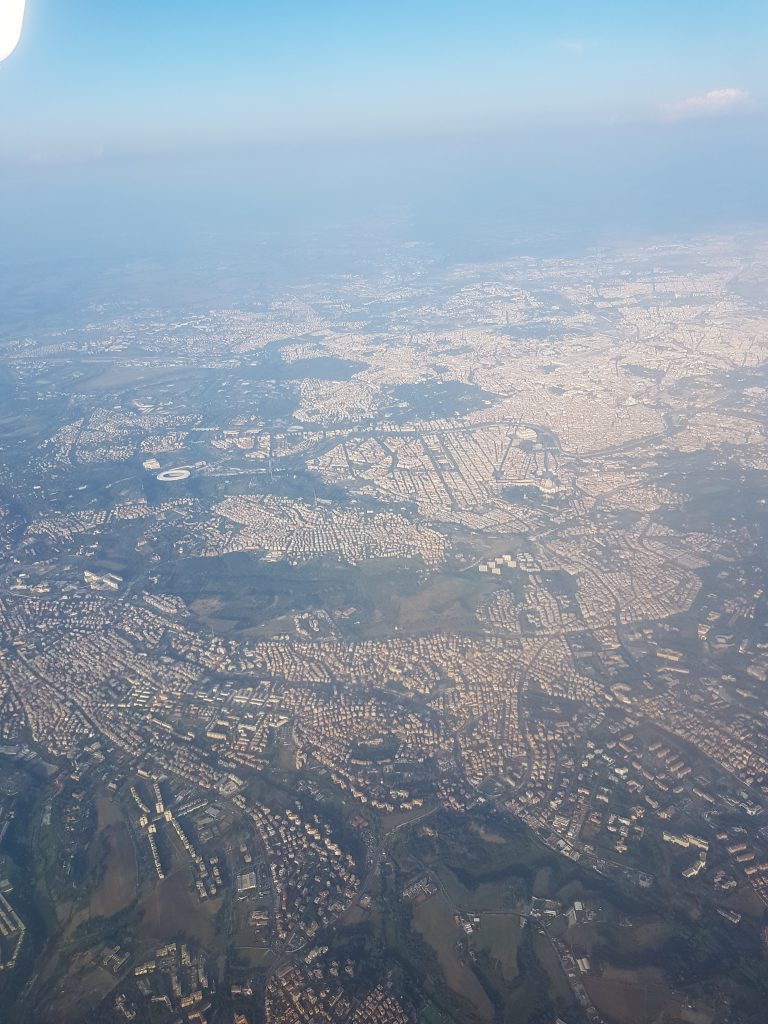 View of Rome from the air