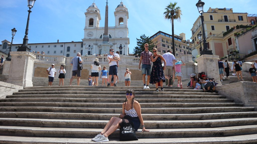 Emma on Spanish Steps, Rome