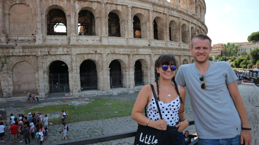 Emma and Michael at the Colosseum