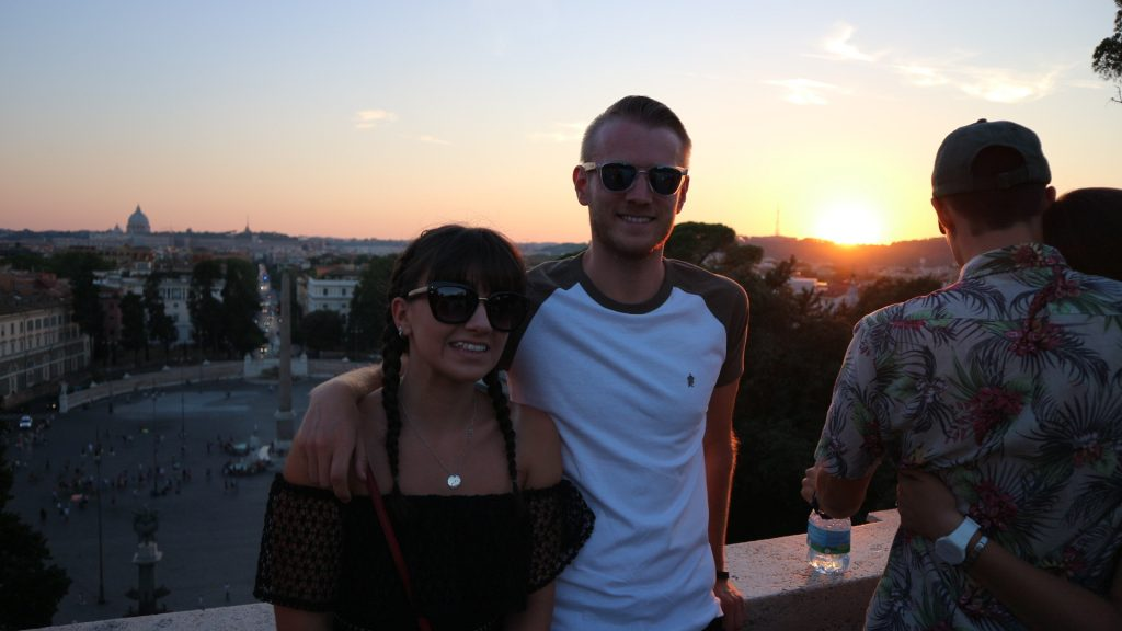 Emma and Michael, viewpoint Rome