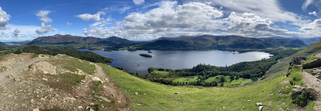 View from Cat Bells of the Lake District