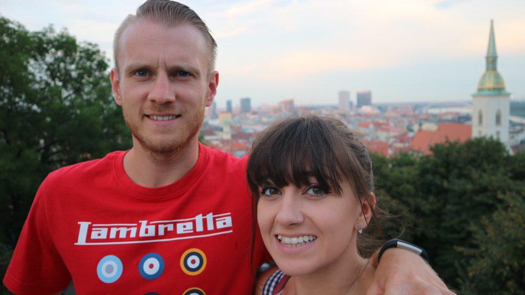Emma and Michael in Bratislava