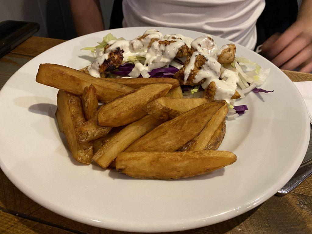 Peri peri chicken kebab - Cheviot Hotel Bellingham