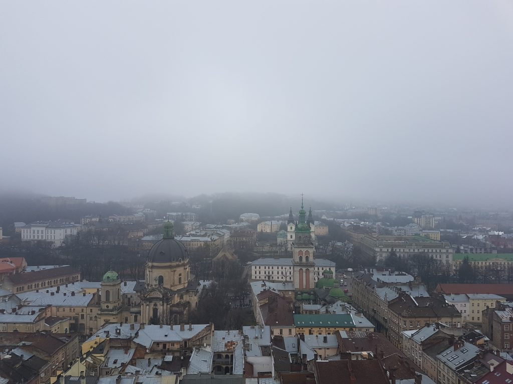 View from Lviv townhall