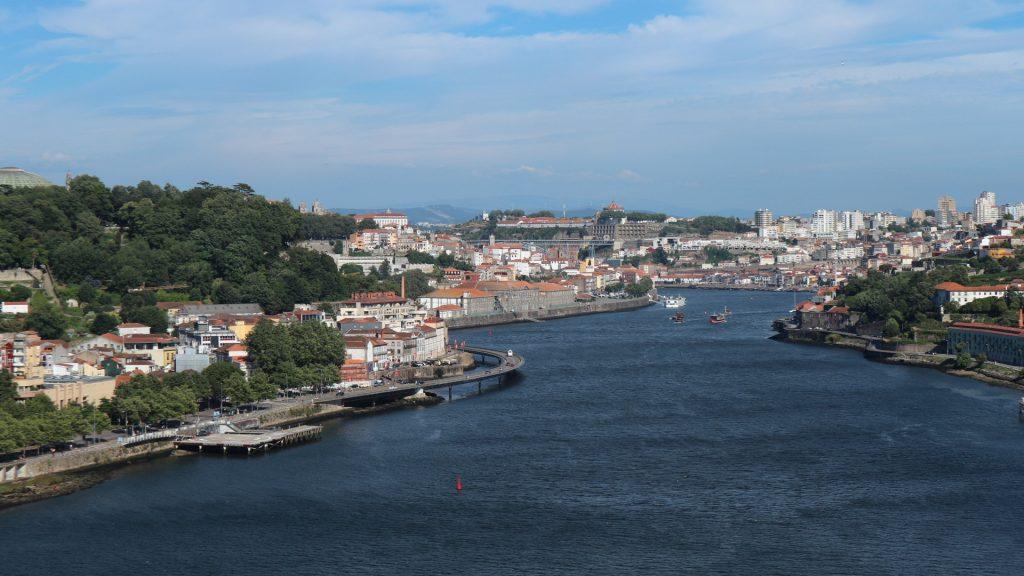 View from the top of the bridge climb, Porto