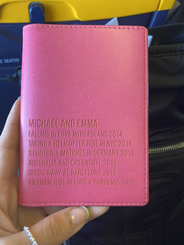 Travelling to Poznan, passport cover
