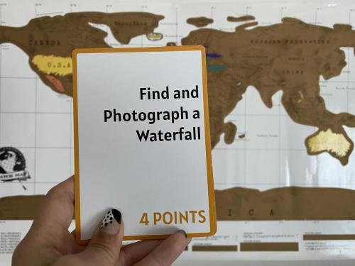 Camera Caper Challenge Card - Waterfall