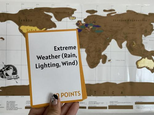 Camera Caper Challenge Card - Extreme Weather