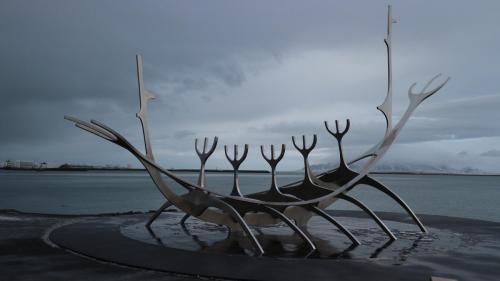 Viking Boat Statue