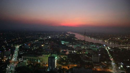 View from Vinpearl rooftop bar hue